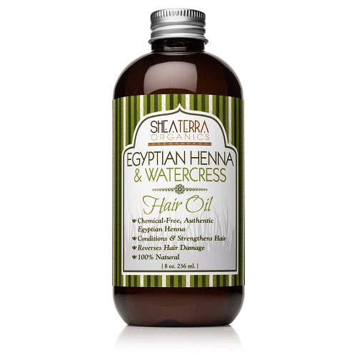 Egyptian Henna & Watercress Hair Oil (8 oz.)