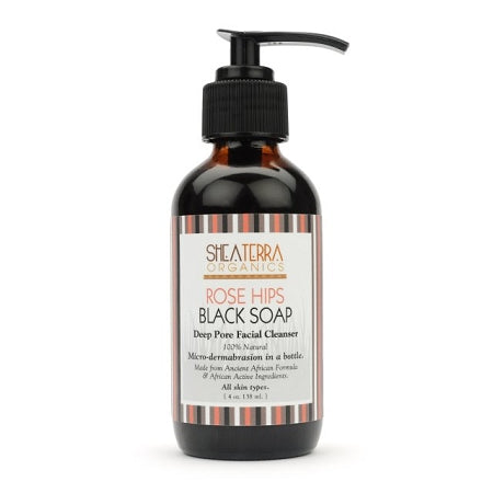 Rose Hips Black Soap Deep Pore Facial Wash and Mask 4 oz.