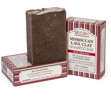 Moroccan Lava Clay Soap Bar (ROSE GERANIUM)