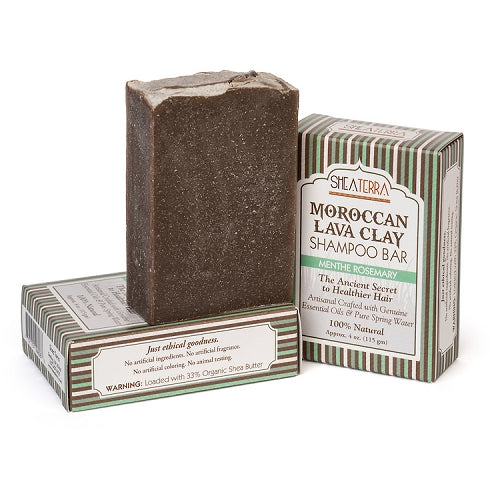 Moroccan Lava Clay Soap Bar (ROSEMARY MENTHE)