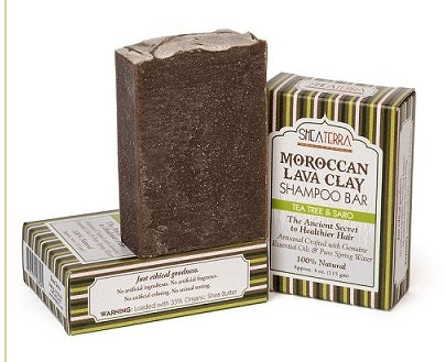 Moroccan Lava Clay Soap Bar (TEA TREE & SARO)