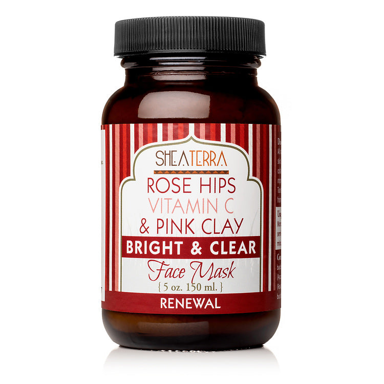 Rose Hips Vitamin C & Pink Clay Face Mask (4 oz.)