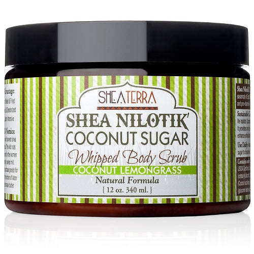 Shea Nilotik' Whipped Body Scrub COCONUT LEMONGRASS (12 oz.)