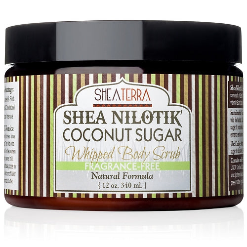 Shea Nilotik' Whipped Body Scrub FRAGRANCE FREE (12 oz.)