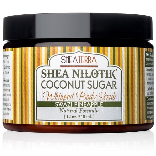 Shea Nilotik' Whipped Body Scrub SWAZI PINEAPPLE (12 oz.)