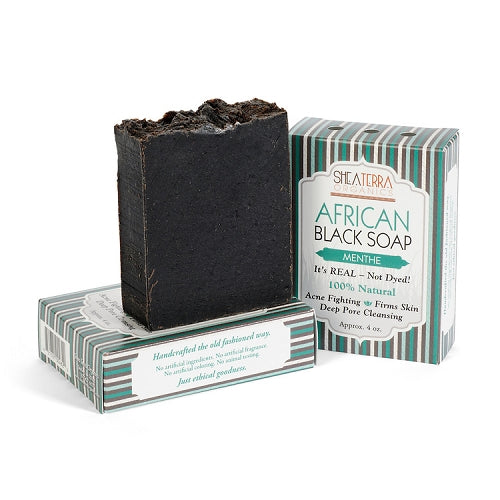 Black Soap Bar (MENTHE)