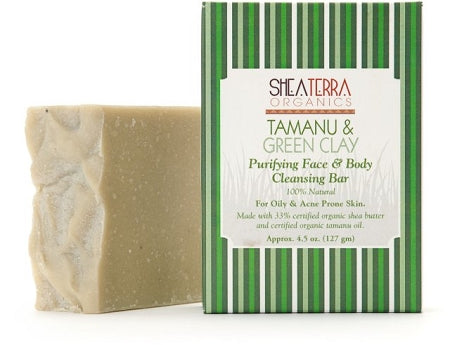 Tamanu & Green Clay Purifying Face & Body Cleansing Bar