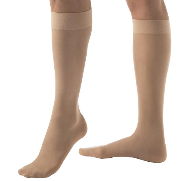 Ultrasheer Knee-High Extra Firm Compression Stockings X-Large Full Calf, Natural