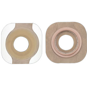 "New Image 2-Piece Precut Flat FlexWear Skin Barrier 1-3/8"" with Tape Border"