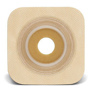 "Sur-fit Natura Stomahesive Flexible Pre-cut Wafer 4"" x 4"" Stoma 1-1/8"""