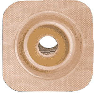 "Sur-fit Natura Stomahesive Flexible Pre-cut Wafer 4"" x 4"" Stoma 1-1/4"""