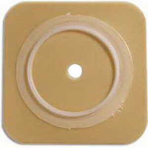 "Sur-Fit Natura Durahesive Cut-to-Fit Skin Barrier 4"" x 4"" without Tape, 1-1/2"" Flange"