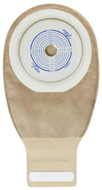 "Esteem + Drainable Pouch with Durahesive Plus Skin Barrier, 2-1/2"" Cut-To-Fit, Filter, Opaque"