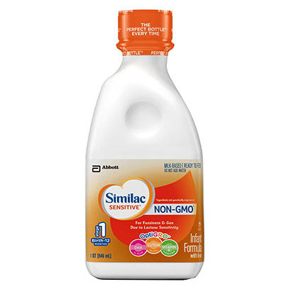 Similac Sensitive Non-GMO With Iron Ready-To-Feed 1 Quart (946mL) Unflavored