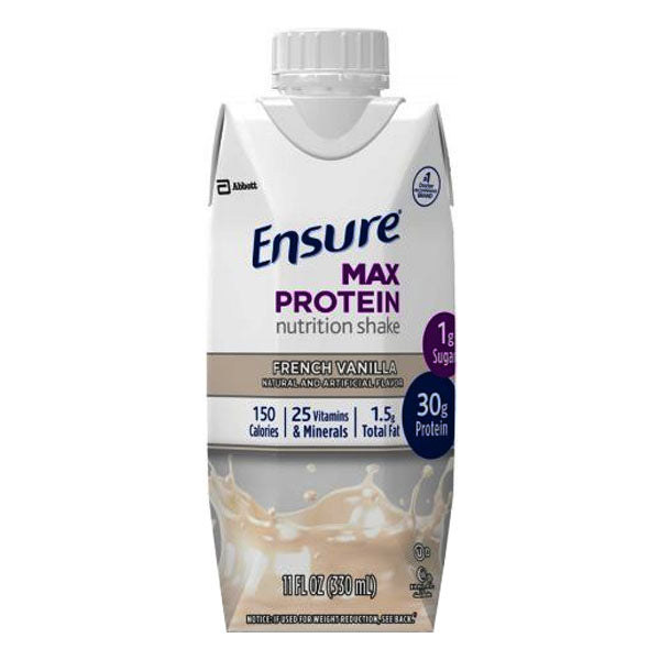Ensure Max Protein, French Vanilla, Ready-to-Drink, 11 oz.