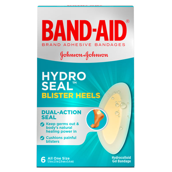 Band-Aid Hydro Seal Blister Heels, 6 ct