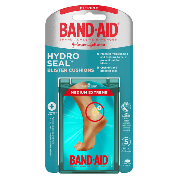Band-Aid Hydro Seal Blister Cushion Bandages, Extreme, 5 ct