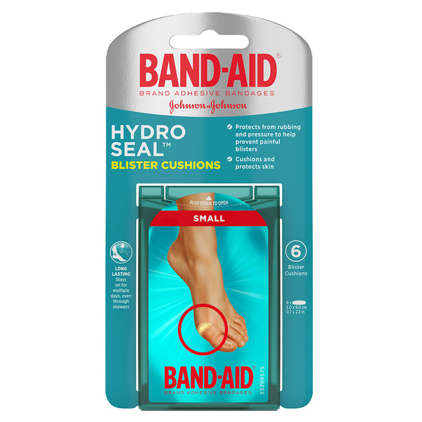 Band-Aid Hydro Seal Blister Cushion Bandages, Small, 6 ct