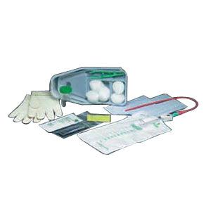 Bi-Level Tray with Red Rubber Catheter 15 Fr