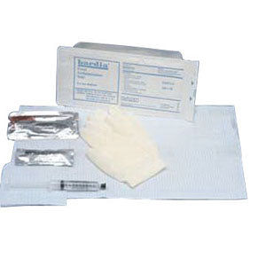 BARDIA Foley Insertion Tray with 10 cc Syringe and PVI Swabs