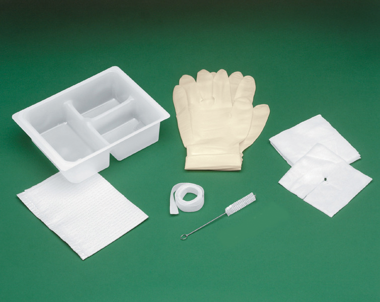 "Basic Tracheostomy Clean and Care Tray 4"" x 4"""