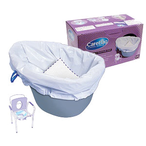 Commode Liner with Absorbent Pad