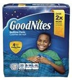 Goodnites Youth Pants for Boys Large/X-Large, Big Pack