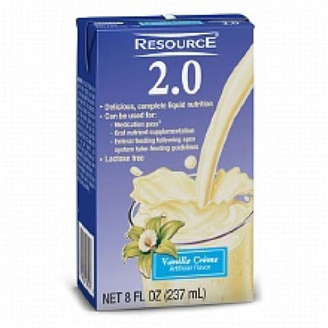 Resource 2.0 Delicious Complete Vanilla Creme Flavor 8 oz. Brik Pak