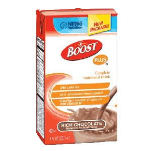 BOOST Plus Complete Nutritional Drink, Rich Chocolate 8 oz. Tetra Brik Pak