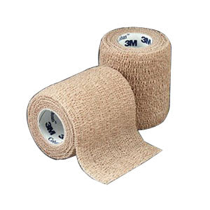 "Coban Non-Sterile Self-Adherent Wrap 3"" x 5 yds., Tan"