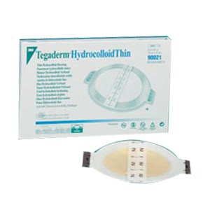 Tegaderm Hydrocolloid Thin Dressing, 4 x 4-3/4 with 2-3/4 x 3-1/2 Pad