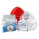 AMBU CPR Mask (EMT Grade) With Gloves And Wipes