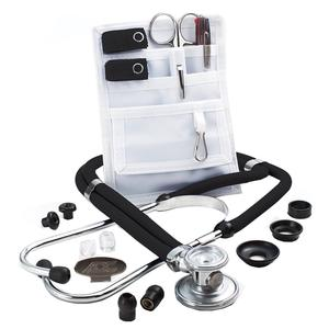 Adscope Sprague Stethoscope with Accessory Pack, Black.