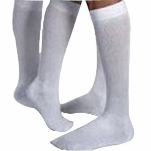 SensiFoot Knee-High Mild Compression Diabetic Sock Medium, White