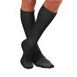 SensiFoot Crew Length Mild Compression Diabetic Sock Medium, Black