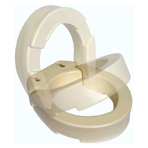 Hinged Toilet Seat Riser for Standard Size Bowl