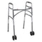 Bariatric Aluminum Adult 2-Button Folding Walker with Wheels