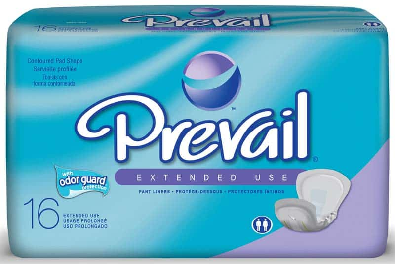 "Prevail Pant Liner Overnight Super, 13"" X 28"", Lavender"