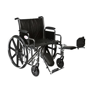 K7 Wheelchair with Removable Desk Arms and Elevating Legrests, 22""