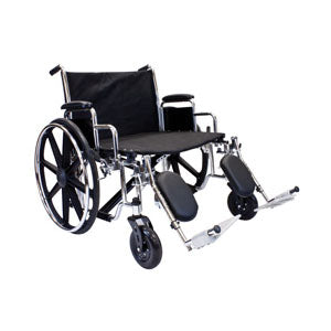 "K7 Extra-Wide Wheelchair with Elevating Leg Rests, 26"" x 20"""