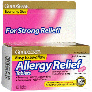 Allergy Relief Tablet, 25 mg Diphenhydramine Hydrochloride (100 Count)