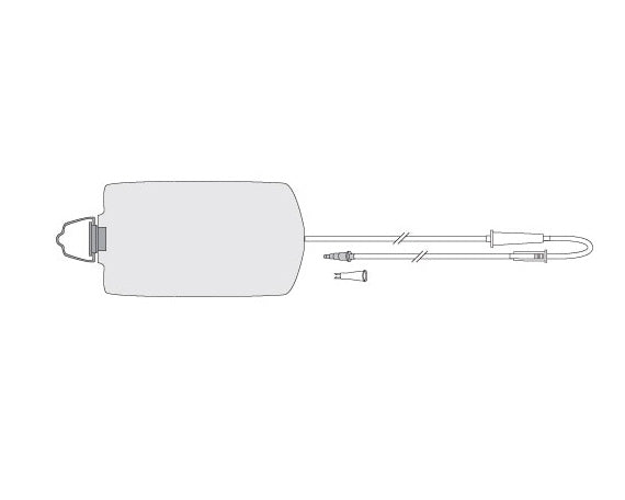 1200 mL Enteral Feeding Gravity Delivery Set with Pre-attached ENFit Transitional Connector