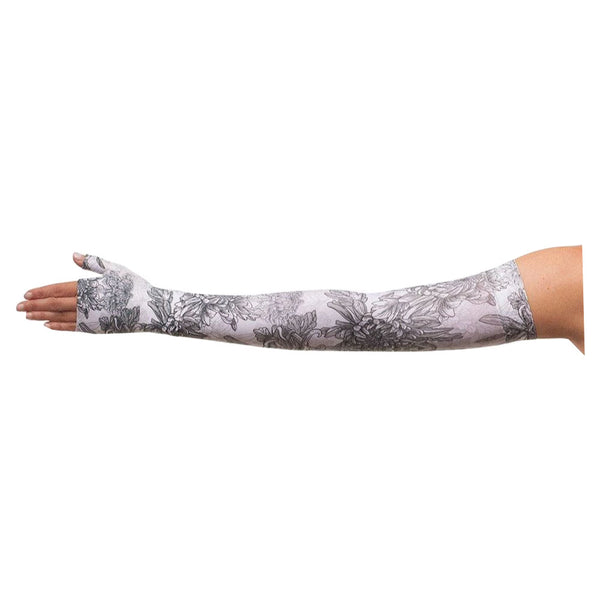 Juzo Arm Sleeve, 20-30 mmHg, Soft, Sleeve, Max, Regular, Silicone, Size 5, Prints Floral Gray