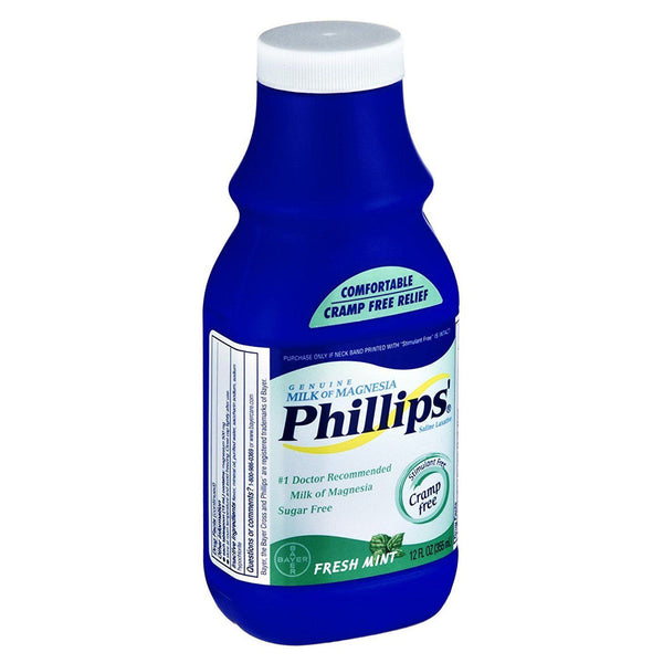 Phillips Fresh Mint Milk of Magnesia Liquid, 12 oz
