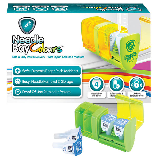 NeedleBay Colour 4 Safe Needle and Tablet Storage Medication Management System