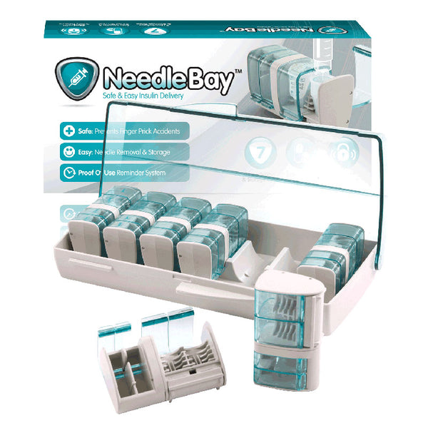 NeedleBay 7 Safe Needle and Tablet Storage Medication Management System