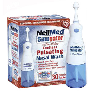 Sinugator Pulsating Nasal Wash Kit (30 Packets)