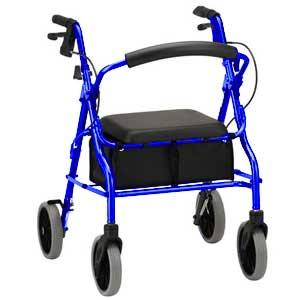 Zoom 20 Rolling Walker, Blue,, 8 Wheel Size