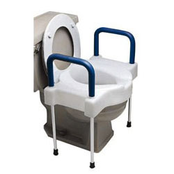 Ableware Tall-Ette Extra Wide Toilet Seat with Steel Frame