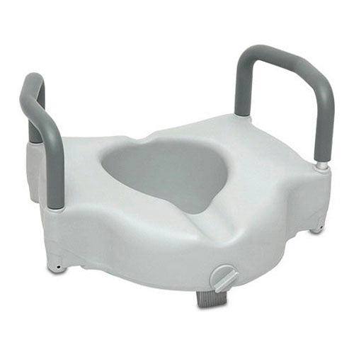 ProBasics Raised Toilet Seat with Lock and Arms, 350 lb Weight Capacity.